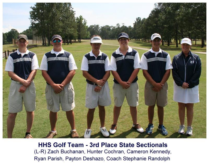 2013-04-29-HHS-Golf-Team-Sectionals-at Azalea-Golf-Course-in-Mobile-placed-third
